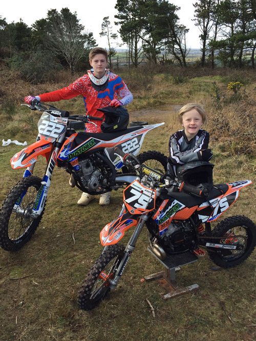 Decklan Mellor of Newquay on his motorcross bike